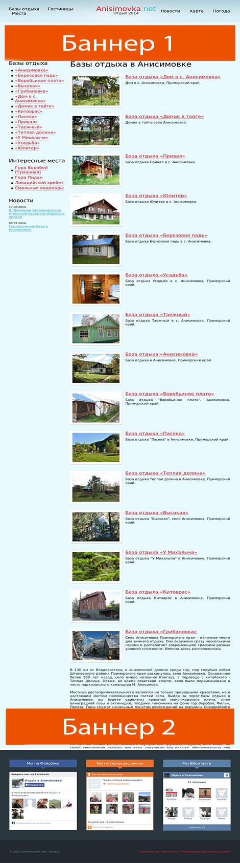 схема размещения рекламы на сайте anisimovka.net  height=